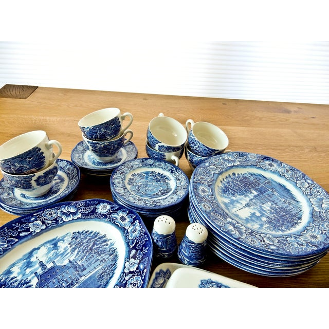 Staffordshire Dinnerware Liberty Blue China Set - Image 3 of 6