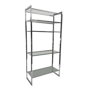 1970s Chrome and Glass Etagere Shelving