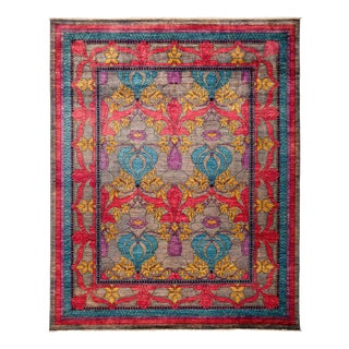 "Arts & Crafts Hand Knotted Area Rug - 8' 1"" X 9' 10"""