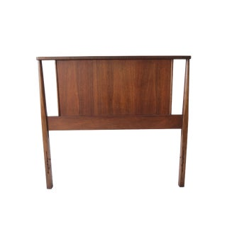 Vintage Mid Century Modern Twin Headboard with Geometric Cutouts