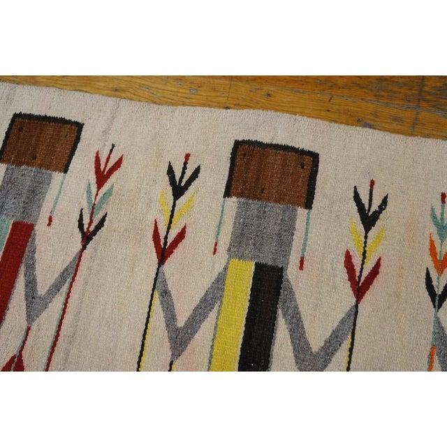 Antique Navajo Style Kilim Rug - 3′7″ × 5′ - Image 4 of 4