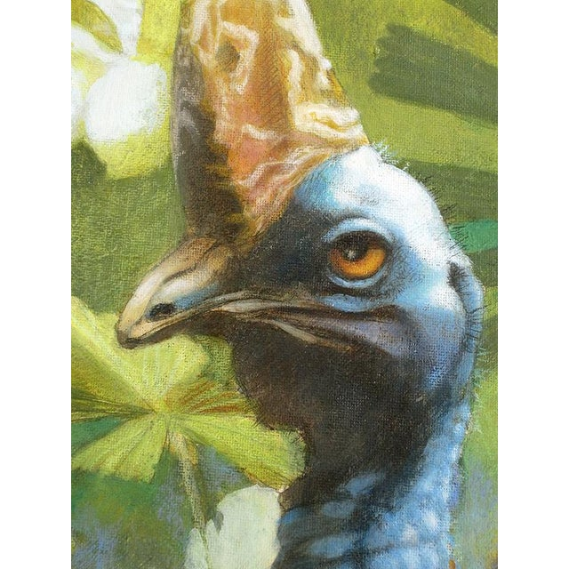 "Ute Simon ""Cassowary"" Jungle Bird Painting - Image 3 of 6"