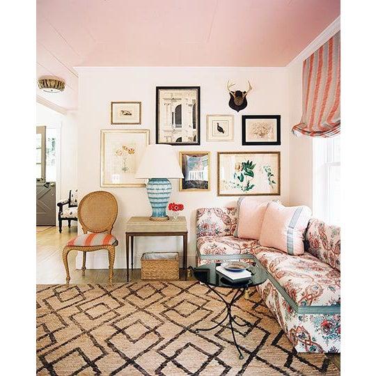 Vintage Eastlake Style Settee Upholstered in Tilton Fenwick Fabric - Image 7 of 8