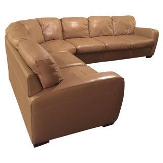 Natuzzi Leather Sectional Sofa