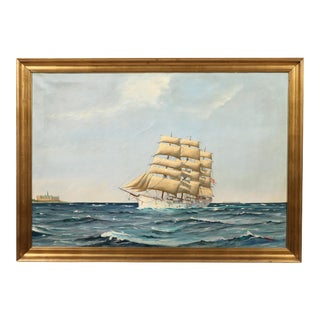 "Danish Painting ""Sailing Ship"""