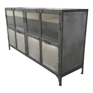 Industrial Antiqued Metal Cabinet