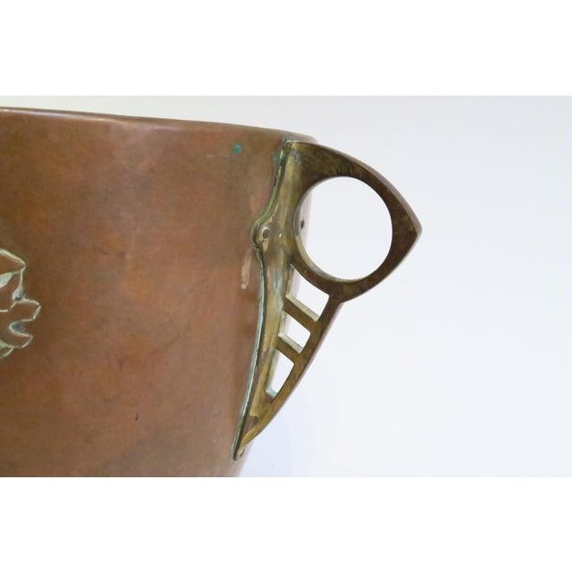 Vintage Hammered Copper Planter - Image 5 of 6