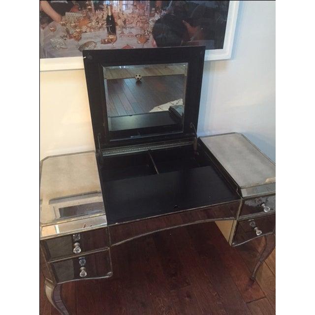 Image of Gold & Silver-Leaf Mirrored Vanity Desk