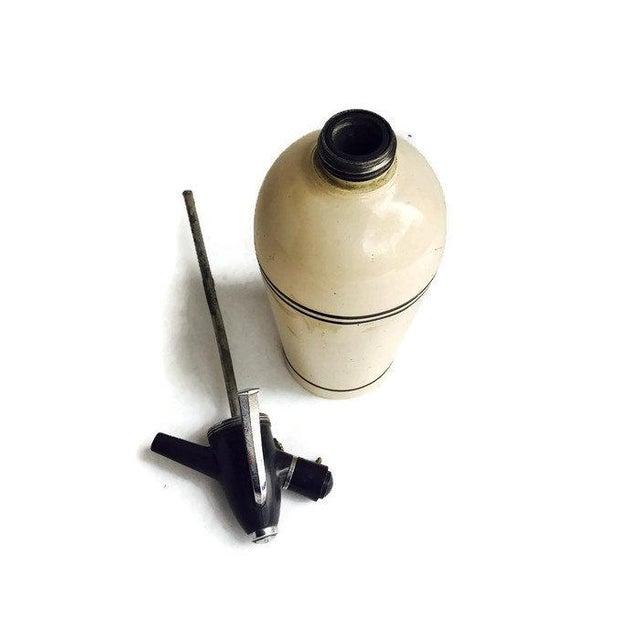 Image of Mid Century 1950s Seltzer Bottle Metal Soda