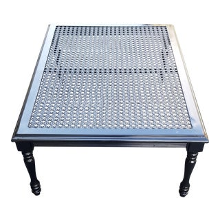 Vintage Metal Woven Coffee Table