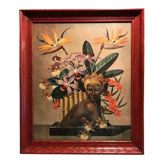 "Vintage Cosmo deSalvo ""Bali Beauties"" Painting"