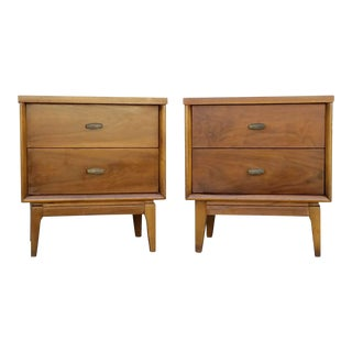 Vintage Mid-Century Double Dresser Nightstands - A Pair