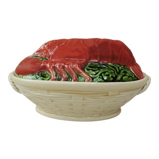 Circa 1910 Majolica Lobster Tureen