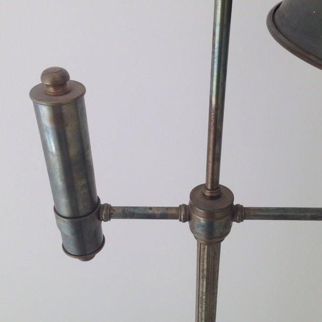 Bronze Colored Tole Floor Lamp - Image 11 of 11