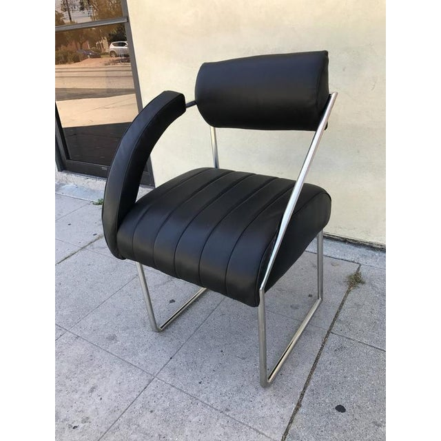 Image of Whimsical Memphis Style Asymmetrically Armed Side Chair