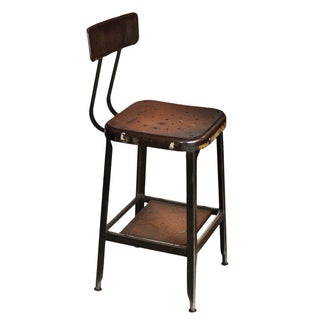 Vintage Metal Shop Stool