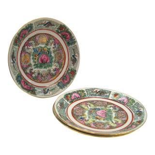 Vintage Saucers Rose Canton Porcelain - Set of 4