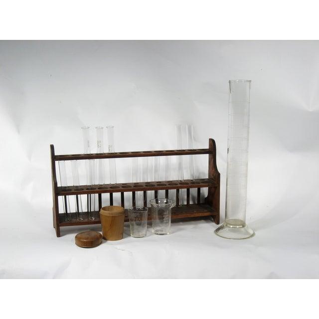 Vintage Scientific Test Tubes & Holder - Image 5 of 5