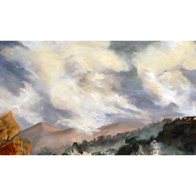 Mid Century Impressionist Ocean Oil Painting - Image 4 of 5