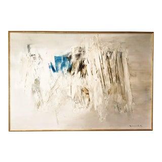 1960's Noboru Yamashita Abstract Oil Painting