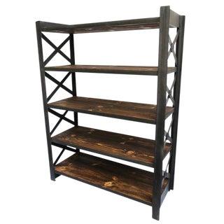 Wood & Iron X Shelf