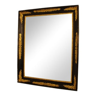 Black & Gold Empire Mirror