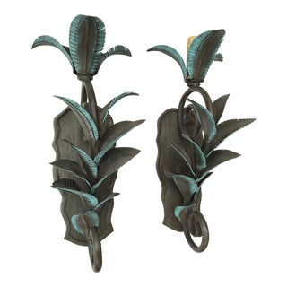 Arte De Mexico Palm Tree Wall Sconces - Pair