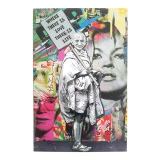 "Mr. Brainwash "" Gandhi "" Original Lithograph Print Pop Art Poster"