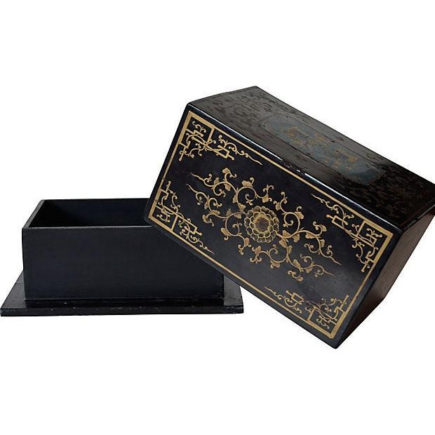 Antique Chinese Lacquer Box - Image 5 of 5