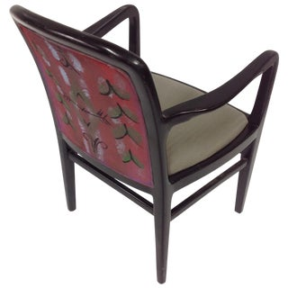 Jack Lenor Larsen Painted Textile Lounge Chair