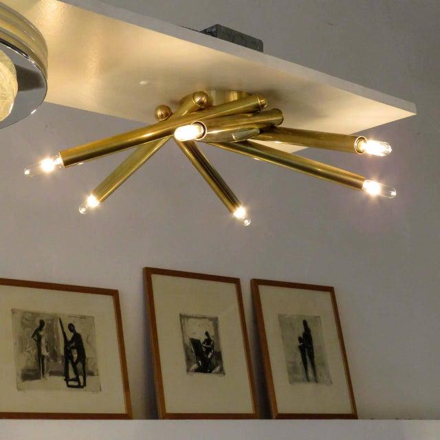 Spiral Six-Arm Brass Flush Mount - Image 7 of 10