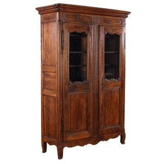 French Walnut Armoire Transition Period, 1800s