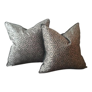 Dedar Fabric & Down Square Pillows- A Pair