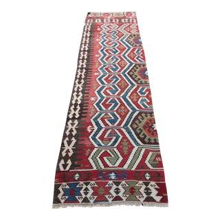 Antique Anatolian Runner Kilim - 9' 8'' x 2' 9''