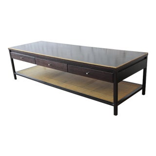 "Paul McCobb for Calvin ""Irwin Collection"" Double-Sided Leather Top Coffee Table"