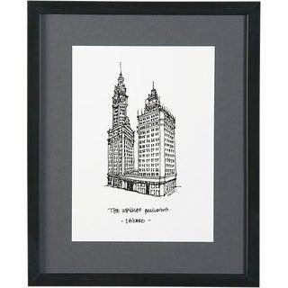 Wrigley Building, Chicago Framed City Print