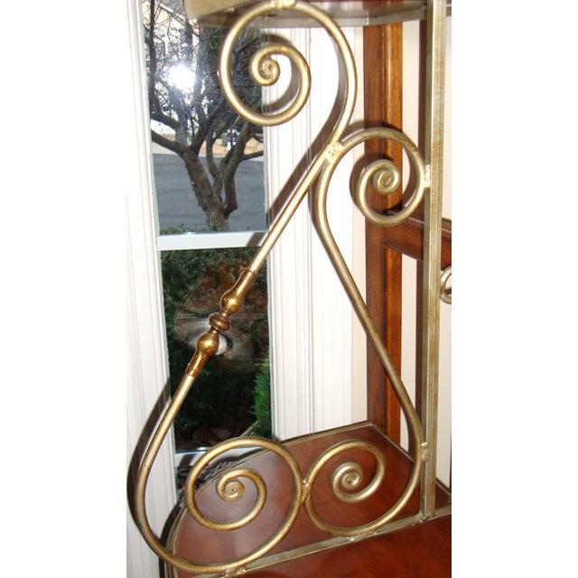 Vintage Brass Pecan Drexel Shelf - Image 4 of 8