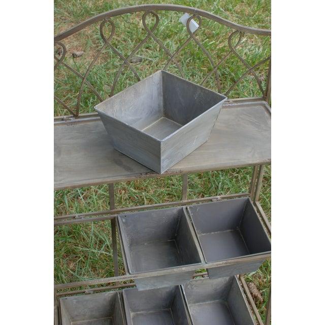 Metal Antique Planter Shelf - Image 4 of 5