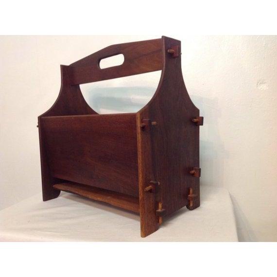 Image of Handmade Wooden Magazine Rack 1930s