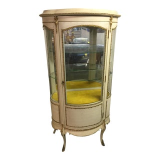 Vintage French Louis XV Curio Cabinet