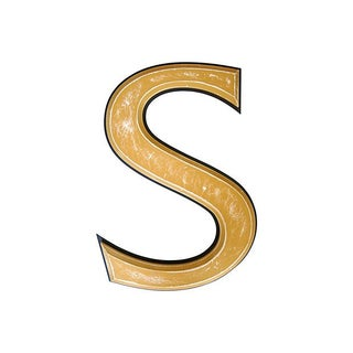 Large Vintage Wooden Marquee Letter S