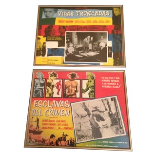 Framed Mexican Lobby Cards - A Pair