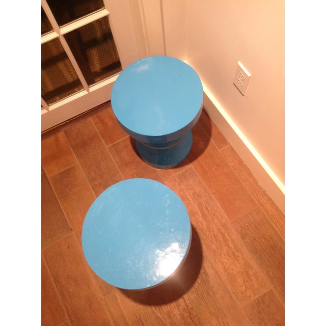 Blue Side/Occasional Tables - Pair - Image 3 of 3