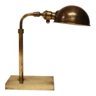 Antique Library Brass Desk Lamp