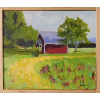 """""""Red House in Vermont"""" by Anne Carrozza Remick"""