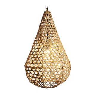 Rattan Basket Tear Drop Lantern