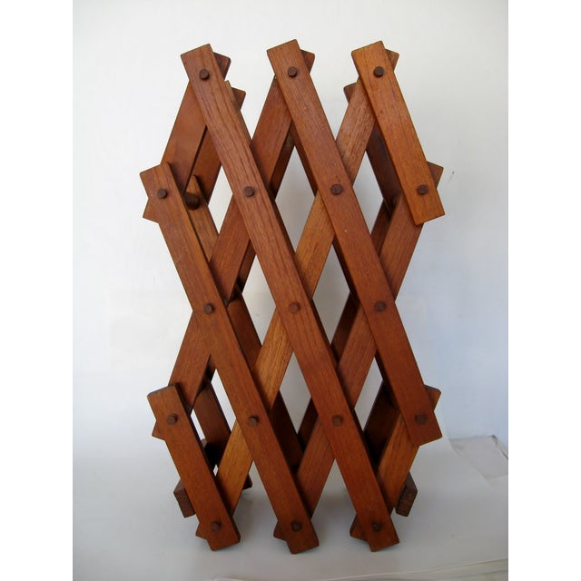 Teak Wood Wine Rack - Image 3 of 4
