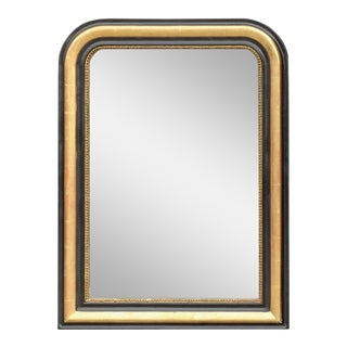 French Louis-Philippe Style Gilded and Ebonized Molded Mirror, circa 1900