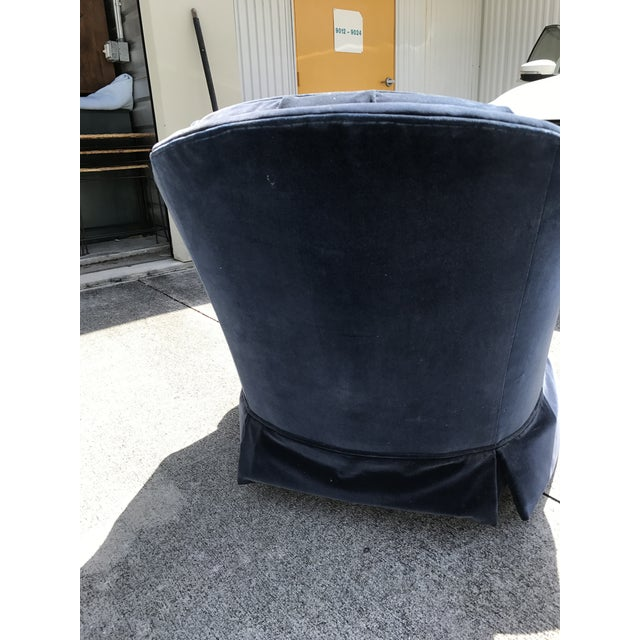 Ethan Allen Blue Tufted Chair - Image 5 of 7