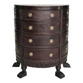 Empire Mahogany Demilune Chest